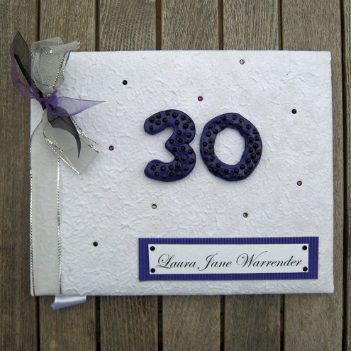 Personalised Special Birthday Guest Book - you choose the colour scheme