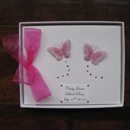 Large Pink Butterfly Prom Book