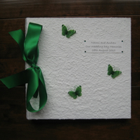 Large Green Butterfly Photo Album - Wedding