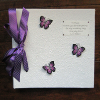 Large Purple Butterfly Photo Album - Wedding