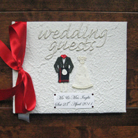 Personalised Scottish Wedding Guest Book - Your tartan
