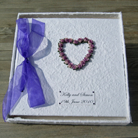 Large Lilac Heart Photo Album - Wedding