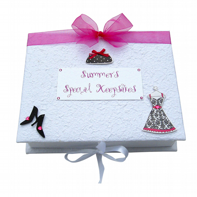 Keepsake Box - Pink and Black Dress