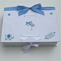 Baby Boy Personalised Keepsake Box - Stork