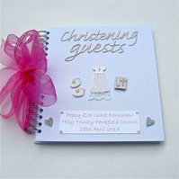 Christening Guest Book for Girls - Classic