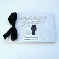 Wedding Guest Book Classic Monochrome