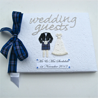 Large Personalised Guest Book - Rangers Tartan