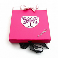 Hot Pink Dragonfly Box