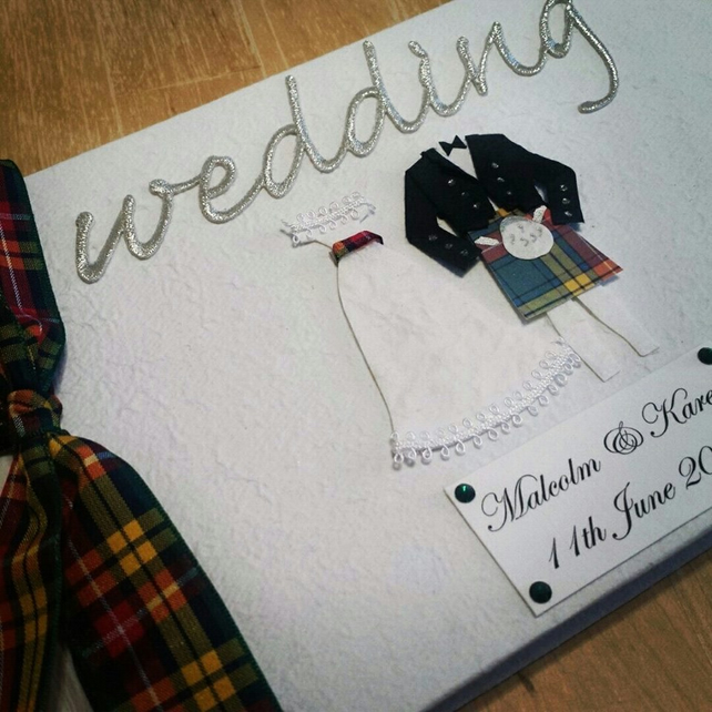 Scottish Wedding Guest Book - Your tartan choice