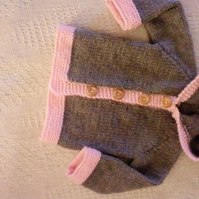 Unisex hand-knitted baby coat