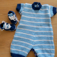Boys romper and trainers set
