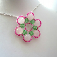 Pay it Forward - PDF Beading Tutorial - Spring Blossom Pendant