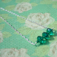 Necklace - Emerald Trapeze