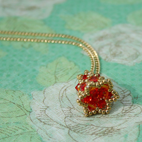 Firedrop - Bell flower Pendant Chain Necklace