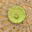 Pistachio Green  ring dish, ceramic tealight holder, itty bitty ring holder