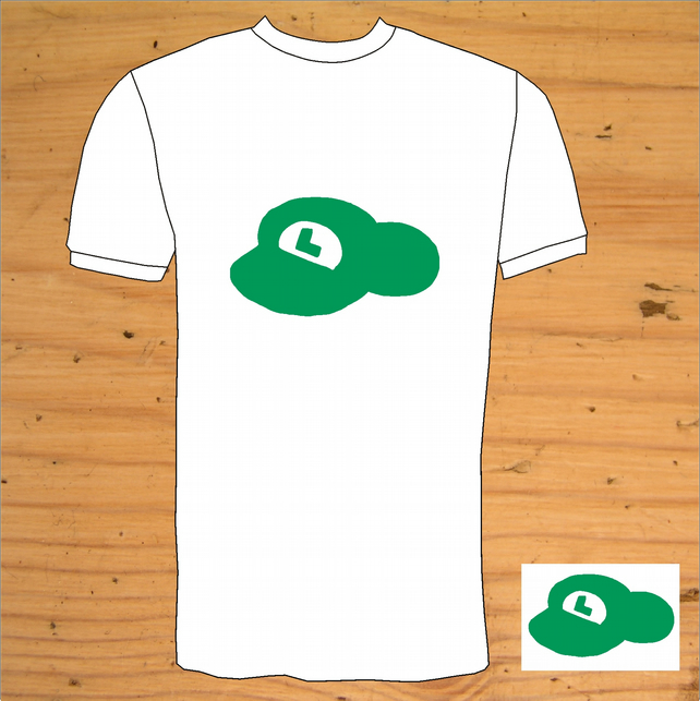 Super Mario Luigi Hat  T-Shirt