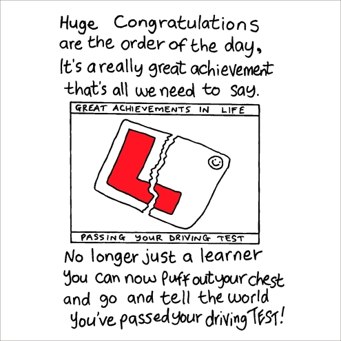 Driving Test Congratulations Card Folksy