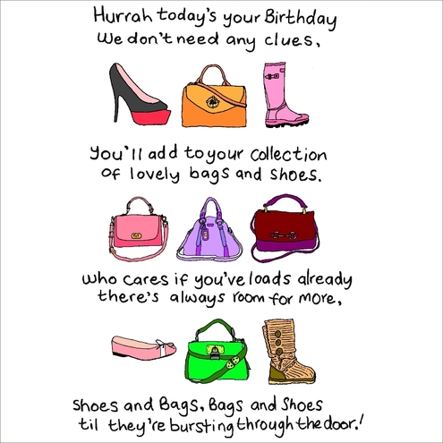 Female Birthday Cards Bags Shoes Folksy