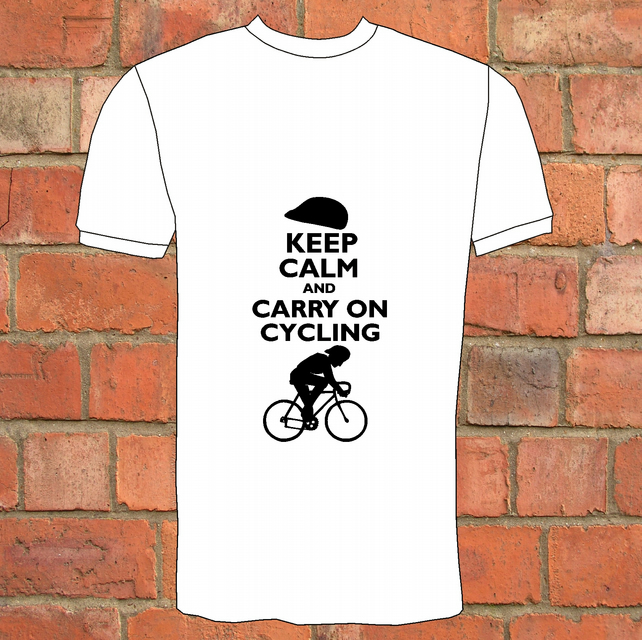 Keep Calm & Carry On Cycling T-Shirt