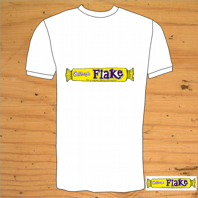 Hand Drawn Cadbury`s Flake T-Shirt