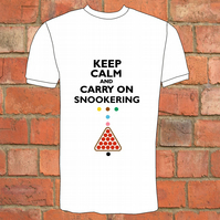 Keep Calm And Carry On Snookering T-Shirt