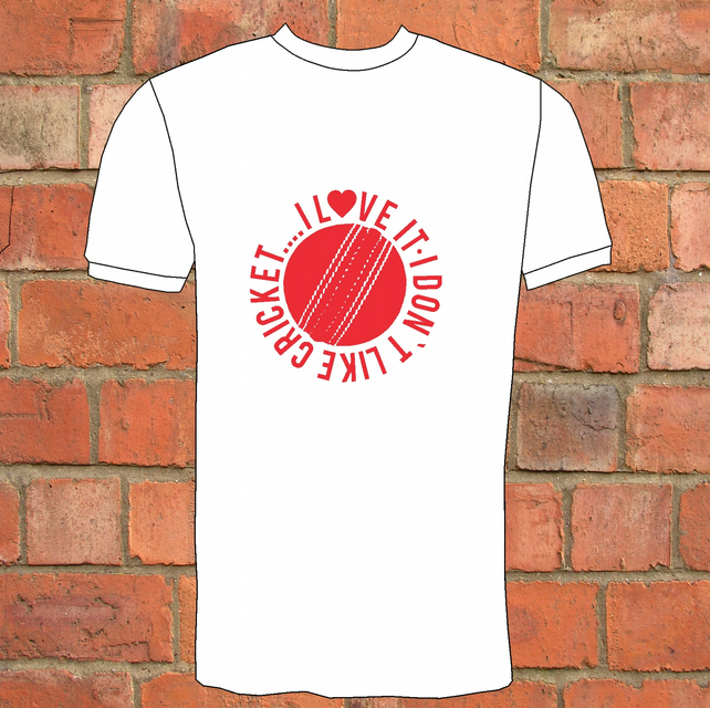 ' I Don't Like Cricket , I Love It'    T-Shirt