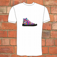 Coloured Baseball Sneaker T-Shirt