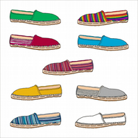 Espadrilles Birthday Card