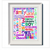 '20 Things That Make Me Smile'  Personalised Framed Print