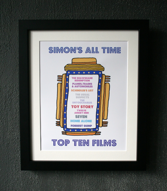 Favourite Top Ten Framed Print