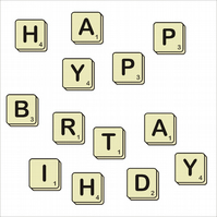 Happy Birthday Scrabbled Card