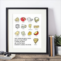 Sweet Dreams Are Made Of Cheese  Framed Print
