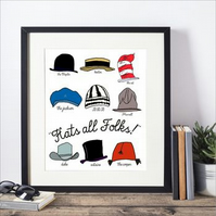 'Hats All Folks' Framed Print