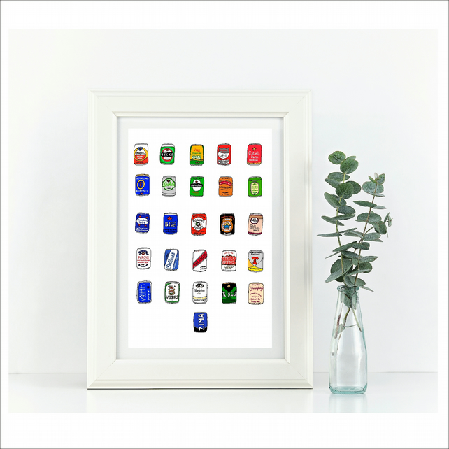Beer Alphabet  Framed Print