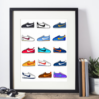 Cortez Legends Hand Drawn Framed Print