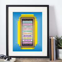 All Time Top Ten Favourites Framed Print