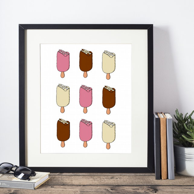 Magnum Ice Lollies Framed Print
