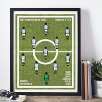 Framed Favourite Football All-Time XI  Print