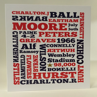 England World Cup Birthday Card