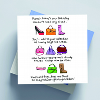 Female Birthday Cards  (Bags & Shoes)