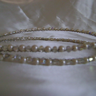 Crystal & Pearl Double Band