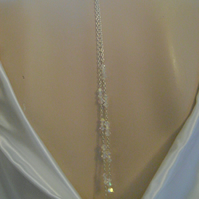 Long Crystal Backdrop Necklace & Earrings Set