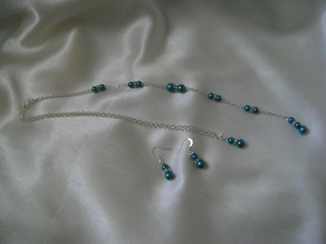Long Backdrop Necklace & Earring Set