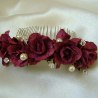 Burgundy Wild Rose Comb