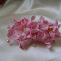 Pink Gardenia Bridesmaid Comb