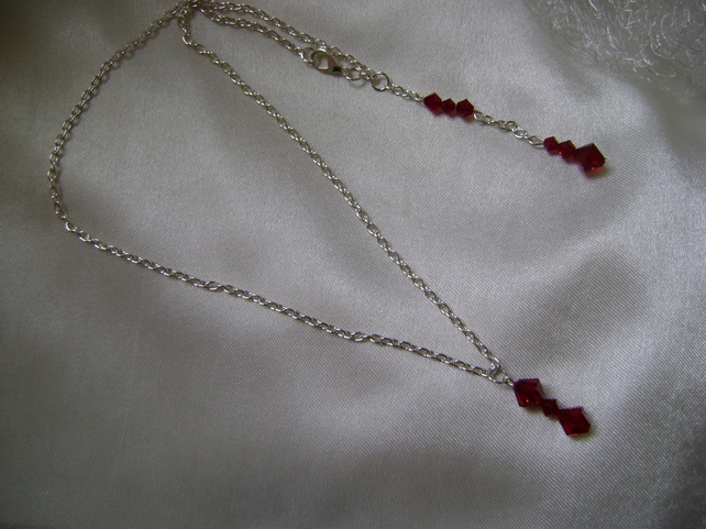 Swarovski Red Crystal Lariat Necklace