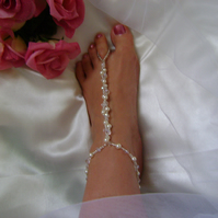Crystal Barefoot Sandal - Beach Bride