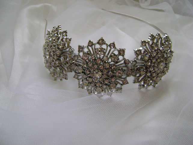Mimi Diamante Side Tiara