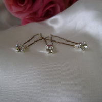 6 Diamante Hairpins