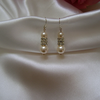 Bellissima - Pearl & Crystal Drop Earrings